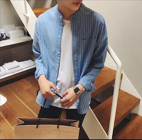 シャツ新品メンズシャツ 長袖 カジュアルおしゃれD1-1