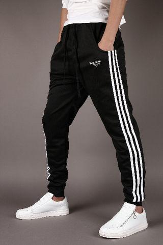 メンズ ジョガーパンツ 3本ライン ブラック XL