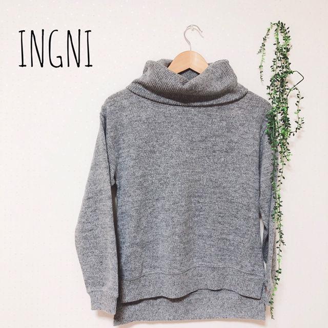 INGNI ボリュームネックニット(INGNI(イング) ) - フリマアプリ&サイトShoppies[ショッピーズ]