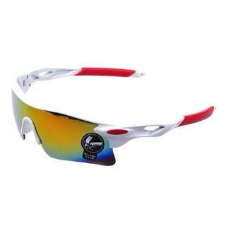 スポーツサングラス白赤 メンズレディース兼用 超軽量