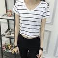 韓国ファッション レディース 春新作 Tシャツ ボーダー
