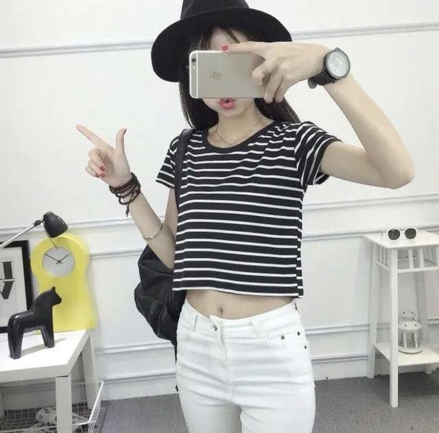 韓国ファッション レディース 春新作 Tシャツ ボーダー - フリマアプリ&サイトShoppies[ショッピーズ]