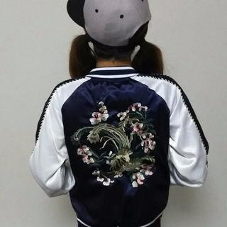即日発送!送料無料☆スカジャン☆刺繍☆花☆Mサイズ