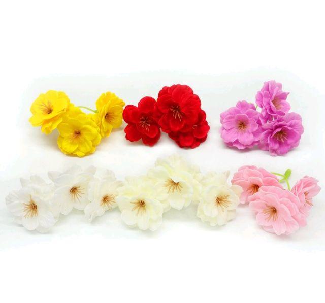 651 選べる色 ソープフラワー 桜 花材 手作り 5個