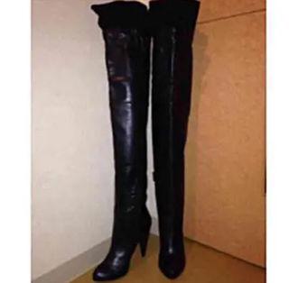 ジョンガリアーノ ニーハイブーツ 23cm 黒 ブーツ
