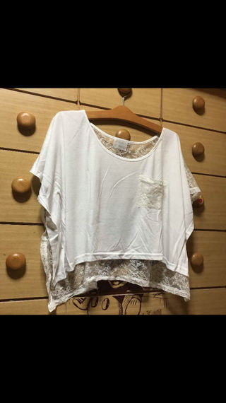 EMSEXCITE バックレースTシャツ