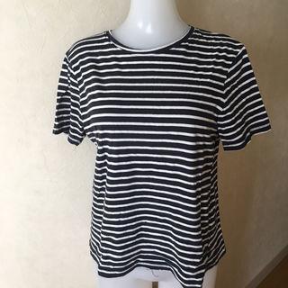 ZARA ザラ 白黒ボーダー Tシャツ S-M