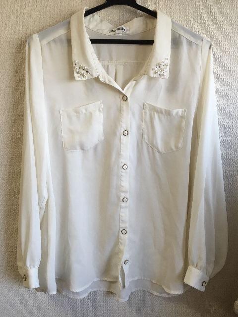 クレドソルパールビジューシャツ(CLEF DE SOL(クレドソル) ) - フリマアプリ&サイトShoppies[ショッピーズ]