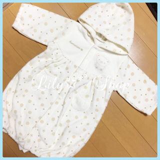 新生児 フード付き コンビドレス