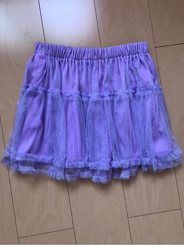 GRL ムラサキ シフォンミニスカート チュールミニスカート