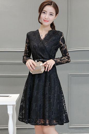 33%OFF! エレガントな美ドレス ブラック Lサイズ