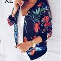 新品花柄JIP 綺麗ジャケット ネイビー XL