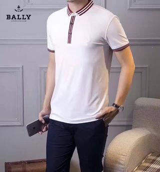ホワイト/グレー 定番ポロシャツ メンズ カジュアル