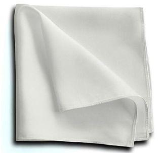 ポケットチーフ シルク 100% メンズ 【白】