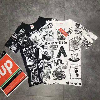 Supreme 男女カップル 人気Tシャツ