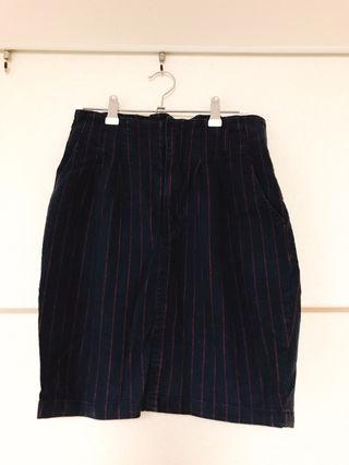 Heatherストライプタイトスカート