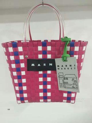 Marni マルニ トートバッグ かごバッグ 防塵袋付き