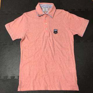TK メンズ ポロシャツ サーモンピンク Lサイズ 美品