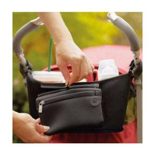 黒【新品】ベビーカー取り付けバッグ♪マザーズバッグ♪ドリンク