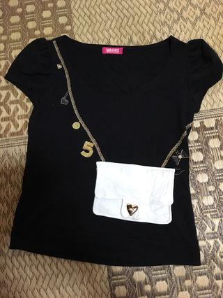 マーズ、レディー、エミリア好き、黒半袖Tシャツ