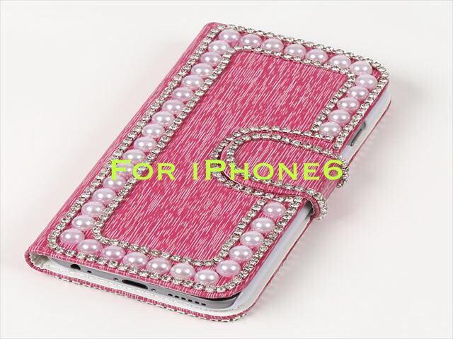 ハンドメイドiPhone6 カバー ピンク