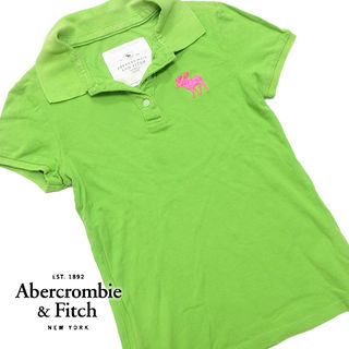 美品 Mサイズ アバクロ 半袖ポロシャツ イエローグリーン