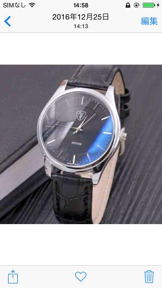 新品12pストーン格子柄レザーベルト腕時計