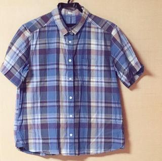 最終、全商品を大幅値下げ!新品GU チェックシャツ
