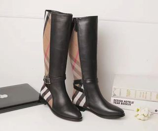 バーバリー本革靴 ラバーブーツ2017美品