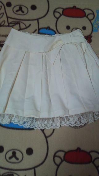 Ank Rougeリボン風スカート美品