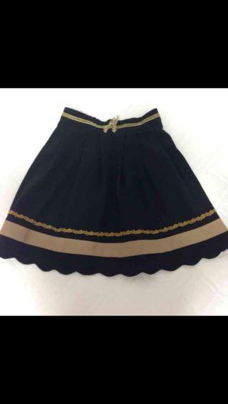 SUZUTAN リボン付きフレアスカート