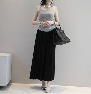 ブリーツスカート ブラック