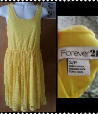 forever21 美女と野獣風 黄色ワンピ