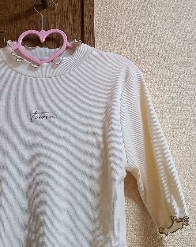 ロゴ5分袖カットソー