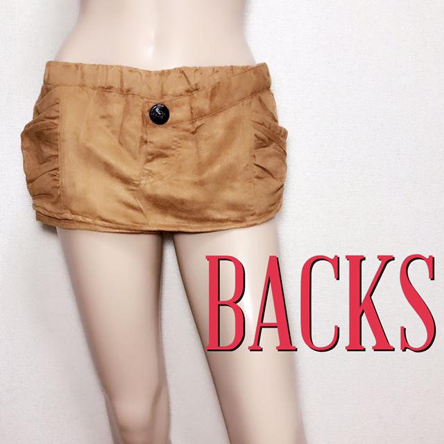 新品タグ付きバックス もてスウェード スカートパンツ(BACKS(バックス) ) - フリマアプリ&サイトShoppies[ショッピーズ]