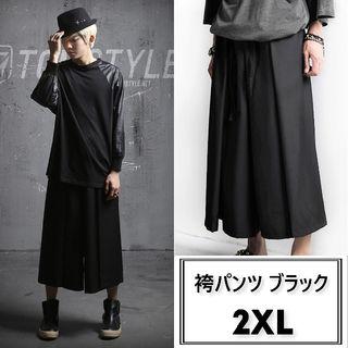 大人気! 再入荷 袴パンツ ブラック ユニセックス 2XL