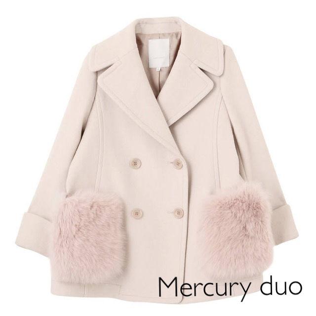 新品Mercuryduoファーポケット付メルトンPコート