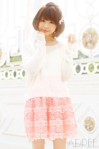 ADREE 花柄スカート