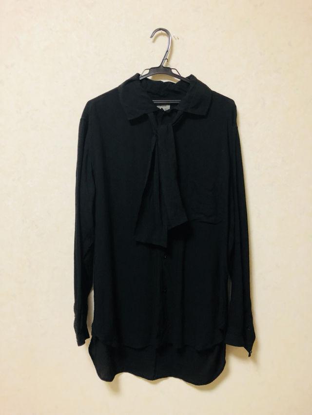 ストール付きシャツ(Yohji Yamamoto(ヨウジヤマモト) ) - フリマアプリ&サイトShoppies[ショッピーズ]