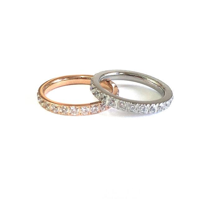 スワロ付きリング指輪