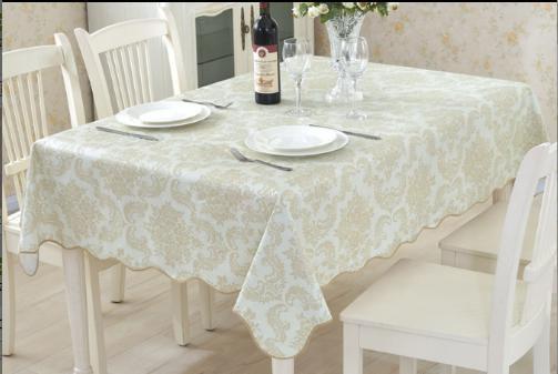 エレガンスな色合いの上品な花柄テーブルクロス