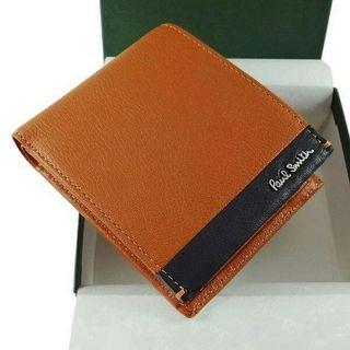 ポールスミス 二つ折り財布 オレンジ カラーブライト