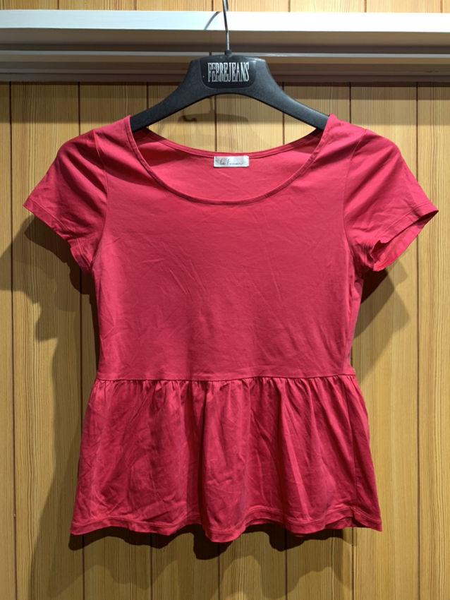 新品 ペプラム 半袖 ピンク Tシャツ