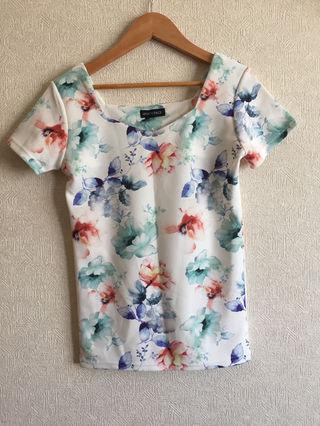 VANITY FACE 花柄Tシャツ