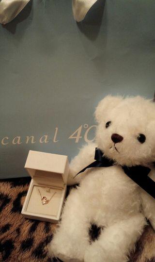 【クリスマス限定】ピンクゴールドネックレス&ベアセット
