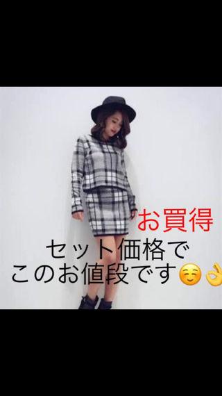 【EGOIST】チェック柄ニットセットアップ