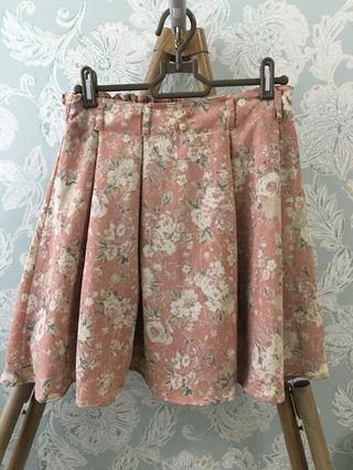 レトロガール スカート フリーサイズ  F ピンク 花柄