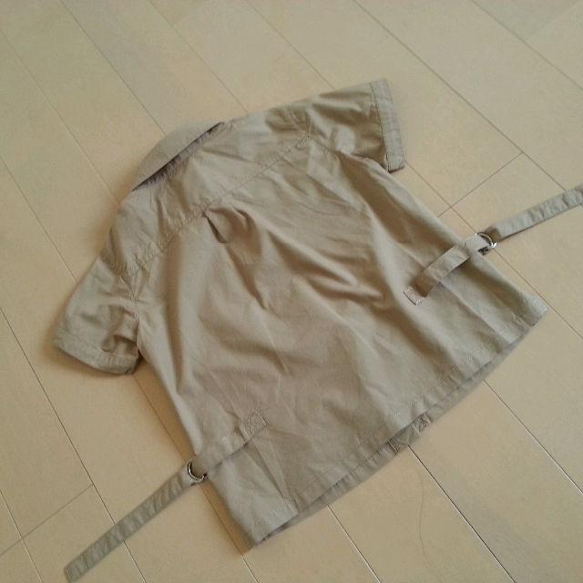 MINI BATSU 半袖 サファリシャツ 120cm