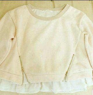 PAGEBOY裾ジッパー付きベージュ長袖