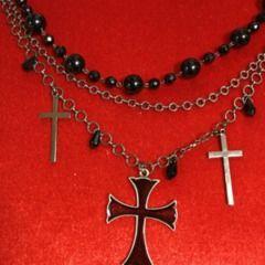ブラックピースナウ 十字架 クロス ネックレス
